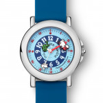 Coffret montre silicone bleu + livre !