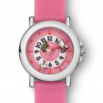Coffret montre silicone rose + livre !